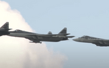 """Tiêm kích tàng hình Su-57 của Nga được """"trình diễn"""" cùng loại tên lửa mới nhất"""