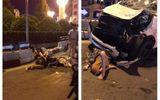 Hà Nội: Xe máy chở 4 người va chạm với ô tô, 3 người trọng thương