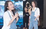 Hiền Thục khoe nhan sắc như gái đôi mươi chạy tổng duyệt bán kết Hoa Hậu Việt Nam 2020