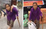 """Đời sống - Cụ bà hơn 80 tuổi lưng còng """"cõng"""" bao quần áo cứu trợ miền Trung: """"Ủng hộ hết tôi lại mua, lo gì!"""""""