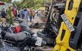 """Tin trong nước - Lâm Đồng: Xe tải """"trôi"""" tự do tông nát hàng loạt xe máy, một người bị thương"""