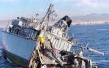 Tin thế giới - Tàu săn mìn hải quân Hy Lạp gãy làm đôi, đuôi vỡ thành nhiều mảnh