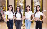 Tin tức giải trí - Dàn thí sinh Hoa hậu Việt Nam 2020 đồng loạt khoe chân dài, vén áo đọ eo thon trước thềm chung kết