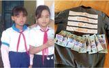 Học sinh nghèo trả lại 5 triệu đồng tìm thấy trong túi quần áo cứu trợ