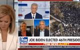 """Video: Nữ MC Fox News gây """"sốt"""" vì phản ứng khi khách mời nói về chiến thắng của ông Joe Biden"""