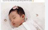 """Đông Nhi, Ông Cao Thắng lần đầu khoe ảnh cận mặt """"tiểu công chúa"""" tròn 1 tháng tuổi"""