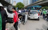 Tin trong nước - Hà Nội: Tai nạn liên hoàn trên đường Phạm Hùng, 2 người nhập viện