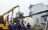 Tin trong nước - Lâm Đồng: Kinh hoàng xe bồn chở gas lao thẳng vào 3 ngôi nhà ven đường lúc rạng sáng