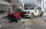 Nữ tài xế mất lái tông vỡ cửa kính showroom ô tô, một người tử vong