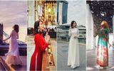 """""""Ông chồng quốc dân"""" đưa vợ đi khắp thế gian, chụp ảnh áo dài đẹp mê hồn"""