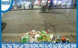Video: Rác thải tràn lan trên đường phố Hà Nội sau đêm Giáng sinh