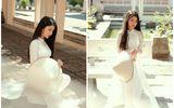 """Nữ sinh Ninh Bình diện áo dài trắng đẹp tựa tiểu tiên nữ, biết bao chàng phải """"đổ gục"""""""