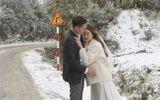 """Tuyết rơi dày đặc Y Tý, cặp đôi chụp ảnh cưới giữa không gian đẹp như """"trời Âu"""""""