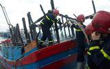 Tin trong nước - Quảng Ngãi: Cháy tàu cá trong đêm, thiệt hại gần 4 tỷ đồng