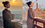 Tin tức giải trí - Thí sinh Hoa hậu Việt Nam sau tin đồn hẹn hò chồng cũ Lệ Quyên: Mặc giản dị lên chùa mà thần thái vẫn gây xao xuyến