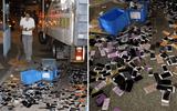 """Shipper không may gặp tai nạn, hàng trăm chiếc iPhone văng """"tung tóe"""" trên đường"""