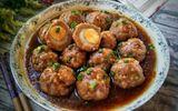 Ăn - Chơi - Bữa tối làm món thịt viên bọc trứng cút, ăn cùng cơm nóng thì hết ý