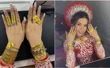 Cô dâu đeo hơn 20 cây vàng cùng nhẫn kim cương, biết gia thế dân mạng càng thêm trầm trồ
