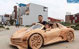 Ông bố 9X Việt Nam khiến thế giới ngưỡng mộ vì siêu xe Bugatti Centodieci bằng gỗ dành tặng con trai