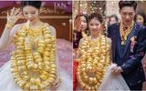 """Hoa mắt với cặp cô dâu chú rể đeo cả trăm vòng vàng đến trĩu cổ, xứng tầm đám cưới """"thế phiệt"""""""