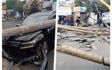 Ô tô 7 chỗ tông đổ 5 cột điện ở Thảo Điền: Nhân chứng nói gì về tài xế?