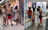 """""""Nóng mắt"""" cảnh hai cô gái cùng chàng trai ăn mặc hớ hênh dạo quanh trung tâm thương mại"""