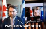 """Tin thế giới - Quên tắt camera, nghị sĩ Canada bị lộ ảnh """"nóng"""" ngay giữa cuộc họp Quốc hội"""
