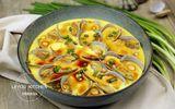 Ăn - Chơi - Ngao hấp trứng vừa ngọt vừa mềm, lại rất thơm ngon