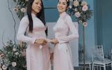 """Tin tức giải trí - Tăng Thanh Hà diện áo dài nền nã, chiếm trọn """"spotlight"""" khi làm phù dâu cho bạn thân"""