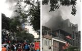 Cháy quán Nét Huế ở Hà Nội: Khói đen cao hàng chục mét, người đi đường hoảng hốt