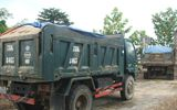 Phú Yên: Bắt giữ 4 xe ô tô tải vận chuyển cát trái phép