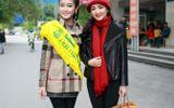 Á hậu Huyền My cùng Hoa hậu đền Hùng Giáng My đi từ thiện