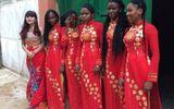 Đội hình châu Phi bê tráp trong lễ ăn hỏi của cặp người Việt gây sốt
