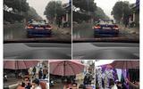 Rước dâu bằng xe mui trần... giữa trời mưa