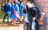 Xót thương cảnh em bé nghèo đứng khóc vì không được đến trường
