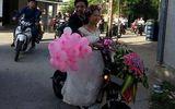 Thích thú đám cưới độc lạ, rước dâu bằng xe đạp điện