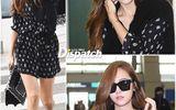 Jessica xinh đẹp, rạng rỡ ở sân bay sau khi rời SNSD