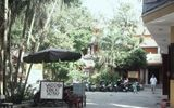 Cận cảnh chùa Bồ Đề vắng hiu hắt trong ngày lễ Vu Lan
