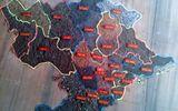 3 tấm bản đồ Việt Nam ghép từ 63 nắm đất nghĩa trang liệt sĩ