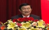 Chủ tịch nước Trương Tấn Sang chúc Tết Tổng cục V, Bộ Công an