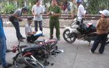 Tàu hỏa tông nát xe máy, một phụ nữ nguy kịch