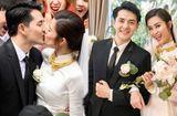 Tin tức giải trí - Đông Nhi rạng rỡ lên xe hoa cùng Ông Cao Thắng, trao nhau nụ hôn ngọt ngào