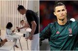 """Bóng đá - Cristiano Ronaldo gây """"choáng váng"""" với hình ảnh ở nhà trông con mùa dịch Covid-19"""