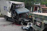 Tin trong nước - Tin tai nạn giao thông mới nhất ngày 26/6/2020: Ô tô tải tông đuôi xe rơ moóc, phụ xe đứt lìa cánh tay