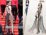 LHP Cannes 2019: Ngọc Trinh diện váy