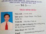 Chính thức tước danh hiệu công an nhân dân của thượng tá dùng bằng giả ở Lai Châu