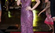 Kỳ Duyên dịu dàng, Diễm My diện váy trăm triệu tới xem Hoa hậu Hoàn Vũ VN