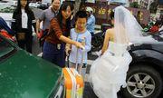Cám cảnh cô dâu không thể đến dự đám cưới vì tắc đường