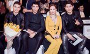 Hoa hậu Thu Hoài được dàn trai đẹp Thái Lan hộ tống xem show Công Trí