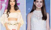 Angelababy và vợ Châu Kiệt Luân đọ vẻ đẹp lai với váy trắng